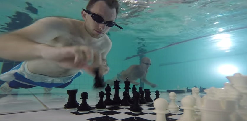 James Heppell won the 2015 Diving Chess World Championship